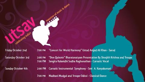 Sivam, Inc. presents: Utsav: Celebrating India's Maestros of Music and Dance