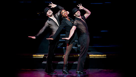 Denny Paschall, Brandy Norwood, and Michael Scirrotto in Chicago