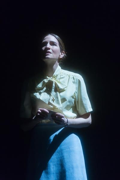 Kate Lindsey as Sister Helen Prejean in Dead Man Walking. Photo by Scott Suchman.