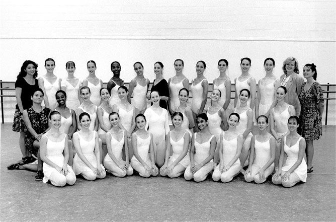 Class photo from Exploring Ballet with Suzanne Farrell circa 1995.