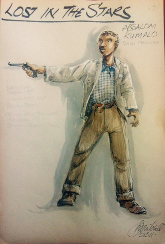 Absalom Kumalo costume sketch