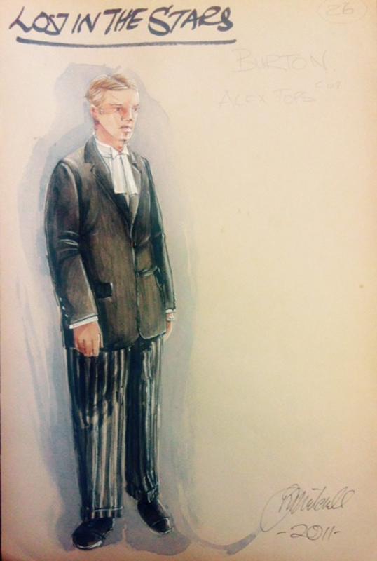 Burton costume sketch
