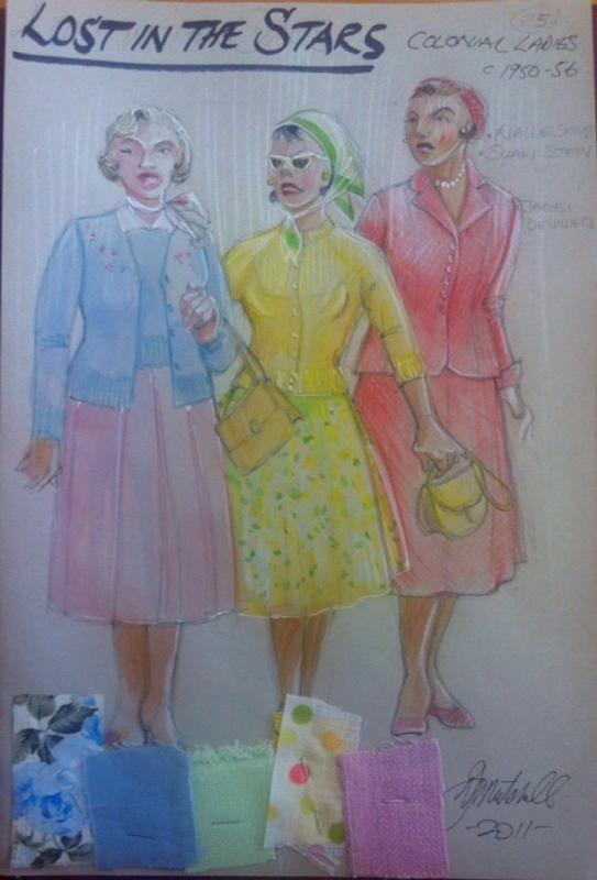 Colonial ladies costume sketch