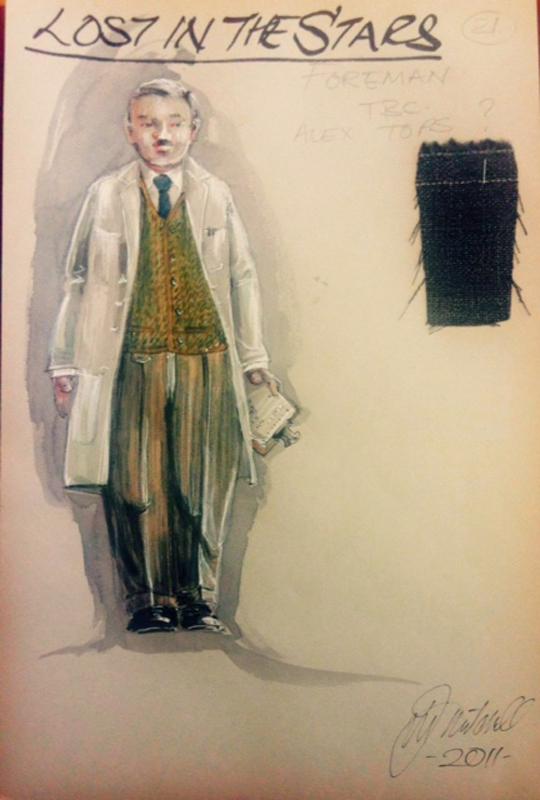 Foreman costume sketch