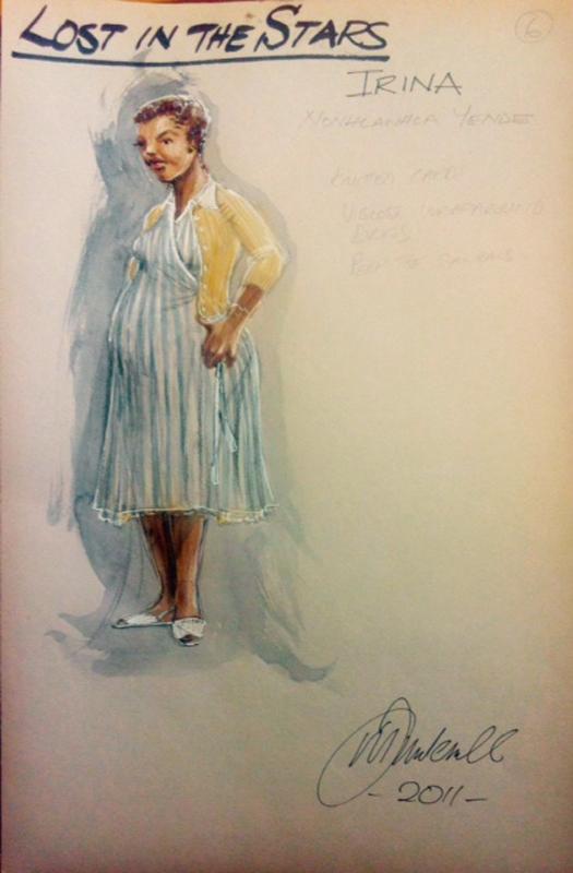 Irina costume sketch