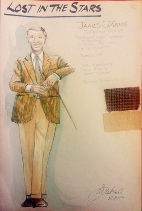 James Jarvis costume sketch