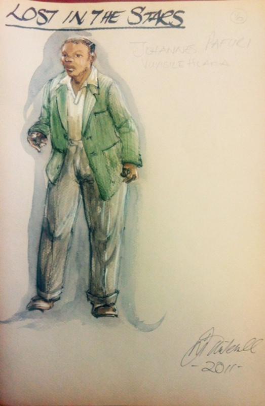 Johannes costume sketch