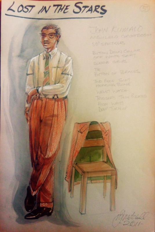 John Kumalo costume sketch
