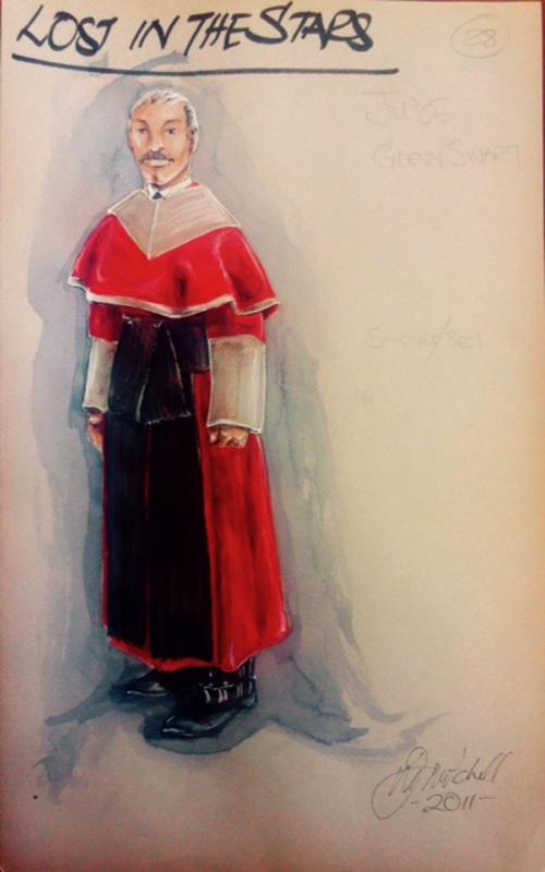 Judge costume sketch