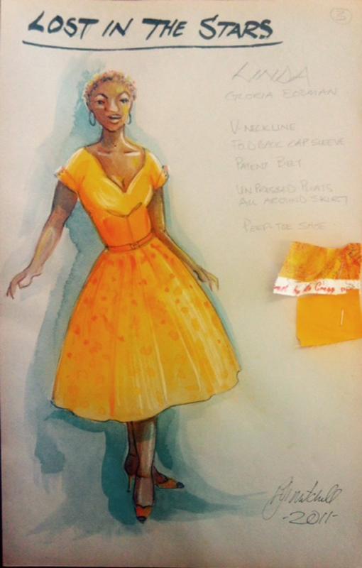 Linda costume sketch