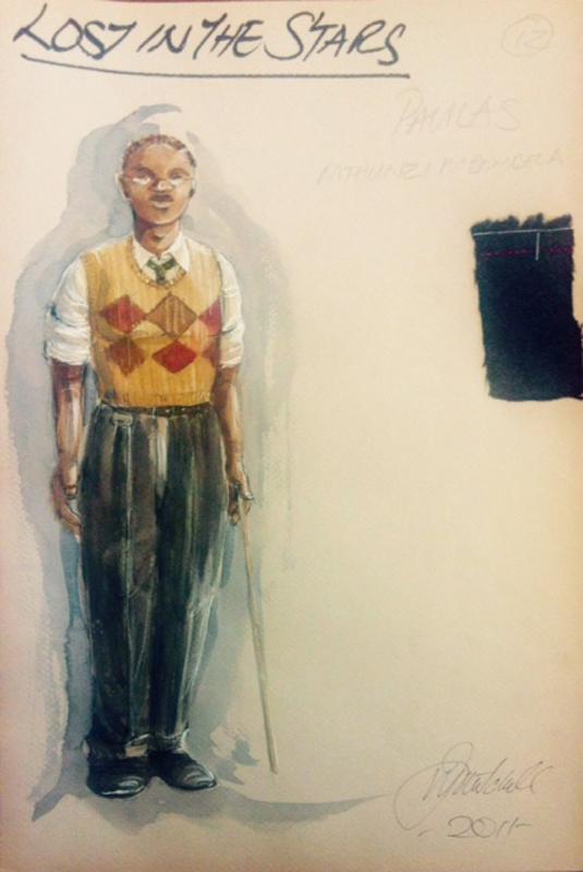 Paulus costume sketch