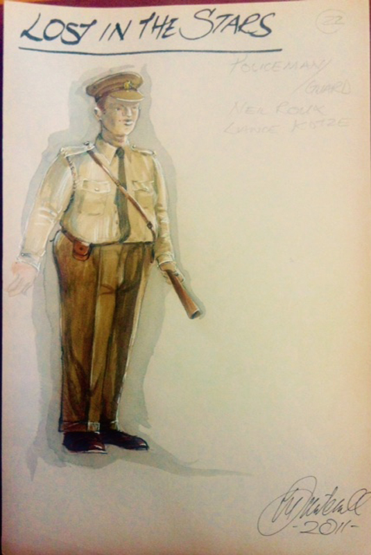 Policeman costume sketch