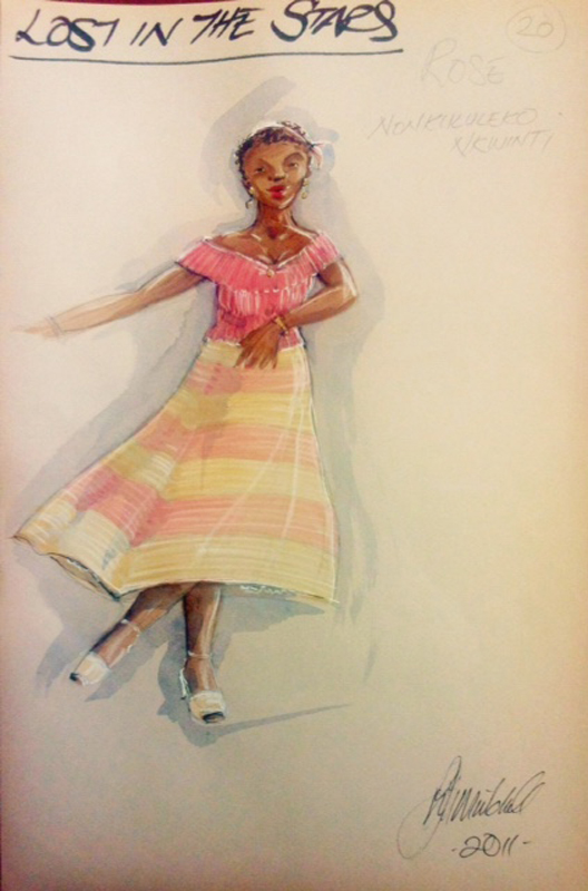 Rose costume sketch