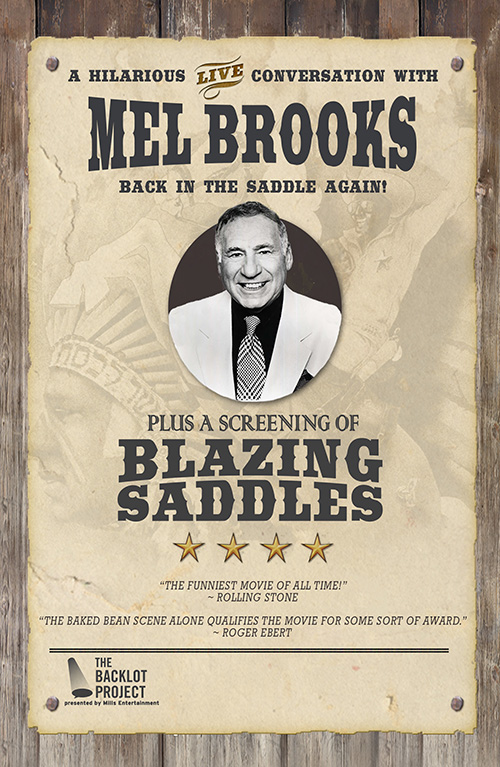 A Hilarious Live Conversation with Mel Brooks: Back in the Saddle Again!