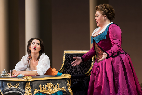 Lisette Oropesa as Susanna and Elizabeth Bishop as Marcellina