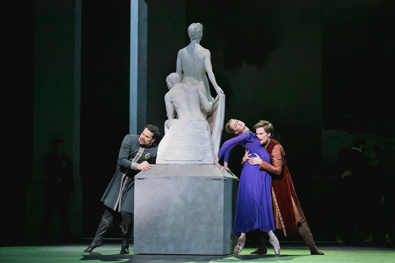 Harrison James, Hannah Fischer and Piotr Stanczyk in The Winter's Tale