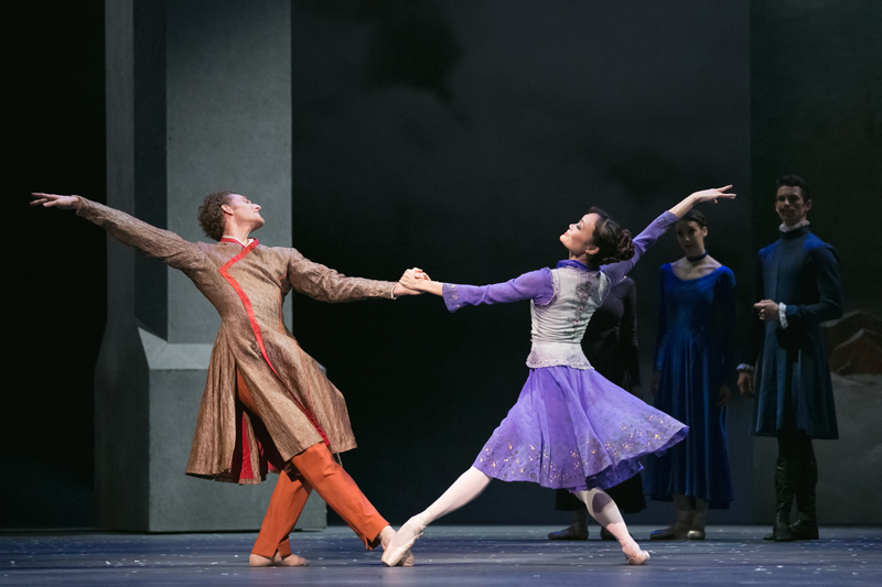 Skylar Campbell and Rui Huang in The Winter's Tale