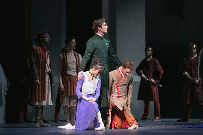Evan McKie, Rui Huang and Skylar Campbell in The Winter's Tale